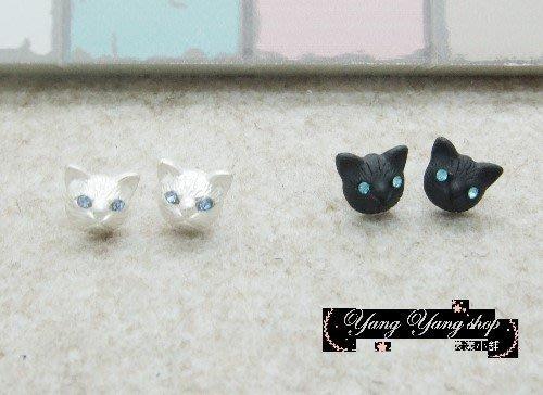 *。漾漾小舖*。超寫真萌萌感十足的貓咪頭矽膠耳夾耳環˙精鍍白K【A2426】☆°