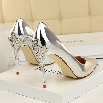 跟鞋 魚嘴鞋 楔型鞋 厚底防水台 細跟 春季尖頭細跟高跟鞋百搭紅色婚鞋漆皮時尚黑色工作女單鞋