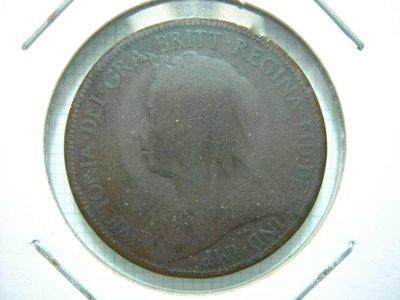 英國.Half Penny.1900年