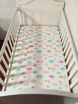 【MissCoCo】北歐風格甜美粉紅 針織純棉婴兒床包 全棉防滑床包 可訂制