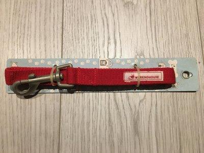 全新從未使用過的紅色牽繩,狗鍊,拉繩,尼龍狗鍊