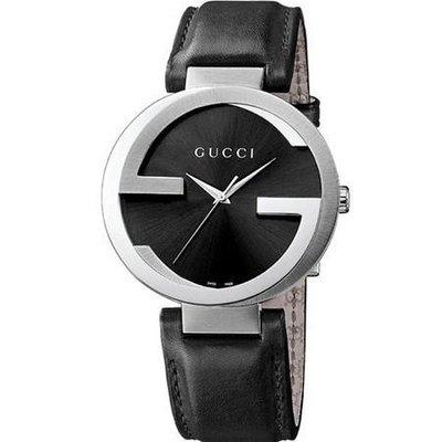 GUCCI YA133205 古馳 手錶 義大利 雙G錶殼 皮帶 對錶 42mm 大尺寸