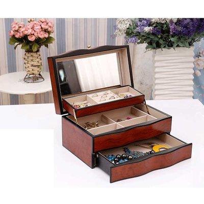 5Cgo【鴿樓】會員有優惠 44983199475 首飾盒木質歐式公主複古大容量珠寶飾品收納花梨木時尚梳妝盒
