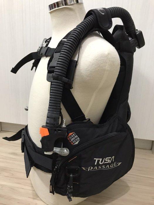 TUSA PASSAGE BC 黑色 Size:M 有快卸配重袋 近全新 輕量化 潛水BCD 已保養 1年保固