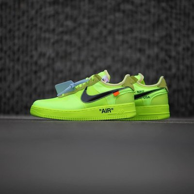 Nike Air Force 1 Low Off-White Volt AO4606-700螢光黃OW螢光綠THE-10