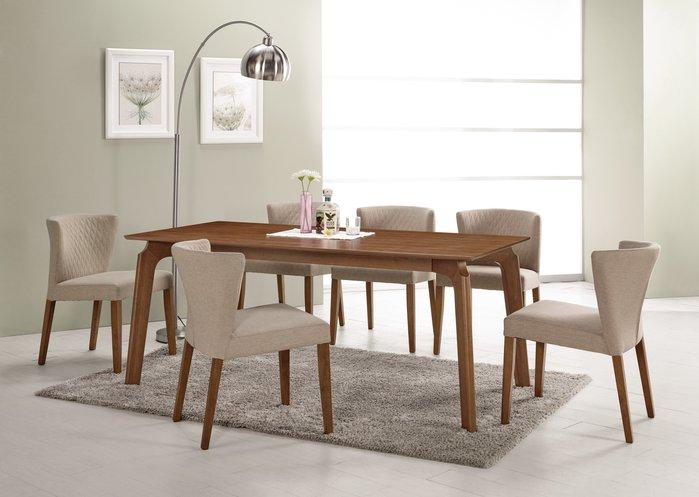 CH429-1 巴利6尺餐桌/餐椅 /大台北地區/系統家具/沙發/床墊/茶几/高低櫃/子母床/訂作家具/1元起