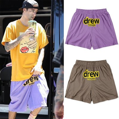 Drew House Shorts 短褲 透氣 網眼 休閒 運動 男女 Justin Bieber 小賈