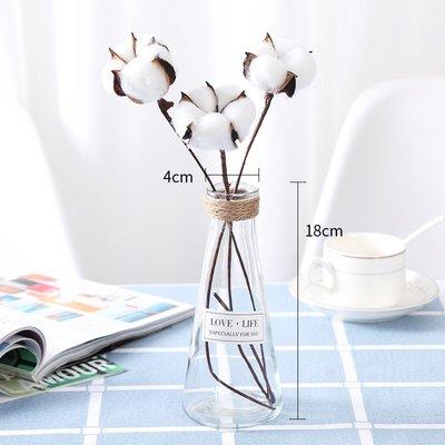 歐式花瓶創意歐式花瓶擺件玻璃透明美式餐桌奢華軟裝飾品家居客廳仿真插花