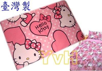 =YvH=單人床包 台灣製造正版授權 Kitty愛心粉紅佳人 3.5x6.2尺加大單人床包組 三麗鷗
