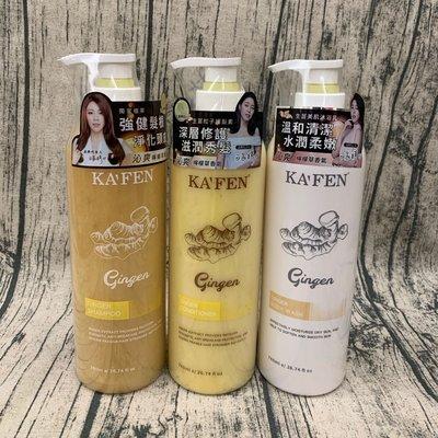 ❤️ 愛Bonbon 生薑韌髮頭皮洗髮精 KAFEN 卡氛 中瓶500ML 檸檬草香氣 白家綺代言 強健髮根