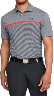 100%正品美國進口Under Armour PLAYOFF SUPER STRIPE當季最新款高爾夫POLO衫 灰