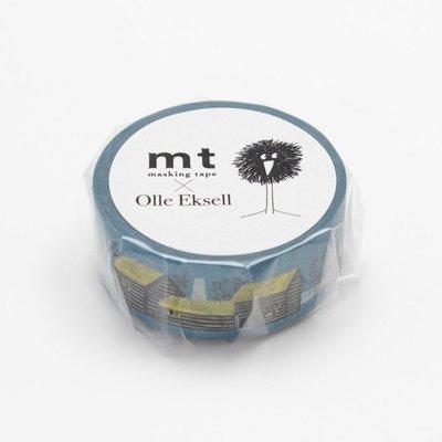 《散步生活雜貨-和紙膠帶》日本 mt OlleEksell.Skansen Houses紙膠帶 單捲-MTOLLE06