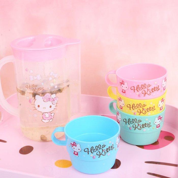 KITTY卡通冷水壺涼水壺瓶泡茶壺卡通可愛家用耐熱涼白開水杯檸檬果汁套裝