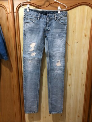 日本窄身品牌 Pledge 牛仔褲 破壞 加工 slp saint laurent Dior number (n)ine