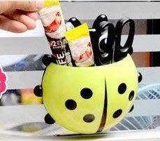 全新創意 吸盤 動物 瓢蟲 造型 牙刷架 收納架