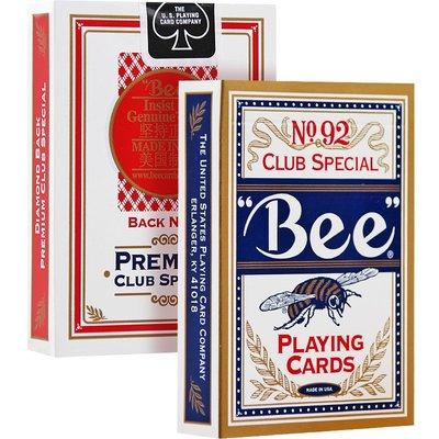 新品上市#小蜜蜂撲克牌美國原裝 進口92 Bee蜜蜂牌撲克紙牌