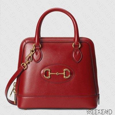 【WEEKEND】 GUCCI 1955 Horsebit Small 小款 手提包 肩背包 紅色 621220
