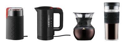 丹麥 Bodum  超值四件組 POUR OVER雪人壺+磨豆機+ Bistro 快速電熱水壺+TRAVEL旅行杯