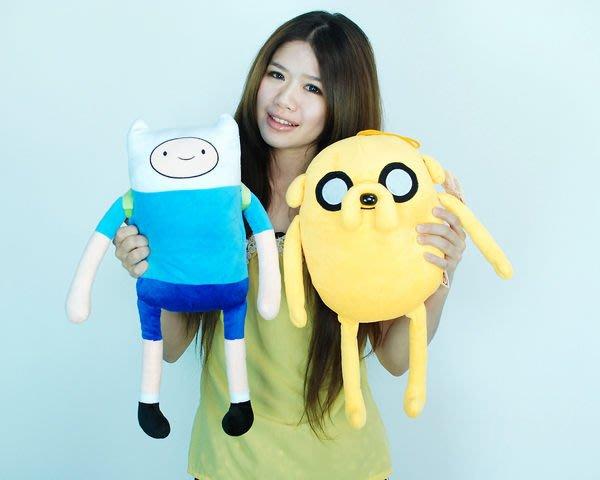拉拉小站~Adventure Time AT 探險活寶 老皮阿寶玩偶 高45cm~二隻特價399元~小朋友最愛