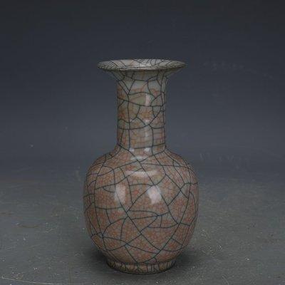 ㊣姥姥的寶藏㊣ 宋代哥窯手工金絲鐵線搖鈴尊  古瓷器古玩古董收藏博古架擺件