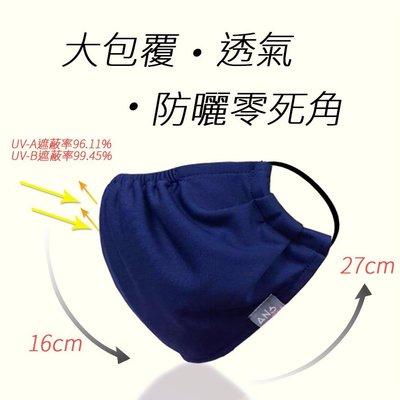 【JP防曬王】台灣製~(親子款)~抗UV輕薄透氣 涼感布寬版口罩 /SGS認證防曬