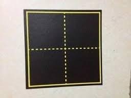 田字格黑板磁鐵 教學用黑板粉筆字黑板貼 磁鐵軟黑板 磁鐵片黑板19*19公分