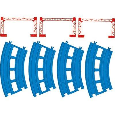【3C小苑】TP10900 麗嬰 日本 TAKARA PLARAIL 鐵道王國 R-05 複線曲軌 火車 場景 軌道
