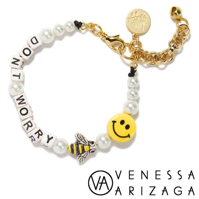 Venessa Arizaga DON T WORRY BEE HAPPY PEARL BRACELET笑臉蜜蜂珍珠手鍊