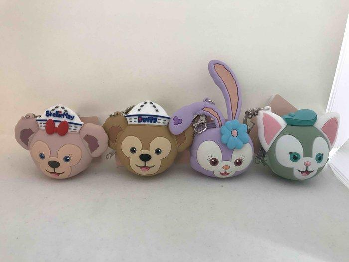 香港 達菲熊/雪莉玫/畫家貓/史黛拉 大頭造型零錢包 鑰匙圈吊飾