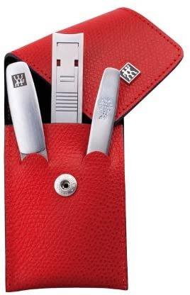 雙人牌 Zwilling TWINOX  超薄指甲刀 斜口鑷子 挫刀   三件組 附真皮皮套 修容組 攜帶型