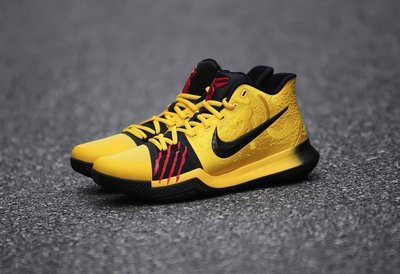 Nike Kyrie-3 MM EP AJ1692-700 Bruce Lee李小龍Irving厄文Kobe曼巴黃黑蛇鱗