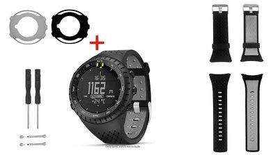 【現貨】ANCASE Suunto core All black 保護殼2件+錶帶1件 軟膠錶帶