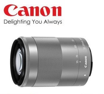 【eWhat億華】 Canon EF-M 55-200mm F4.5-6.3 IS STM 旅遊望遠鏡 平輸 適用 EOS M M2 M3 銀色 拆鏡 【1】