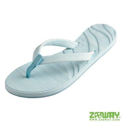 [穿斷換給你]女鞋 我的龜蜜人字拖 MYDAS 沙灘拖鞋 藍色【ZABWAY】夾腳拖