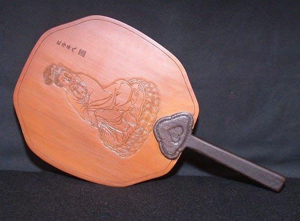 丁香之家--老件竹彫觀音扇