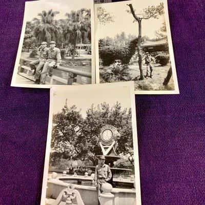 ㊣台灣意象*旗艦店㊣經典景點!3張台中公園阿兵哥合影50多年前0727