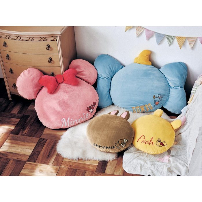 迪士尼Disney《預購》造型抱枕 靠墊 60cm~米妮 維尼 奇奇蒂蒂 小飛象~日本正品~共4款~心心小舖