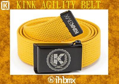 [I.H BMX] KINK AGILITY BELT 時尚流行休閒皮帶 金黃色 自行車下坡車攀岩車滑板直排輪DH極限單車