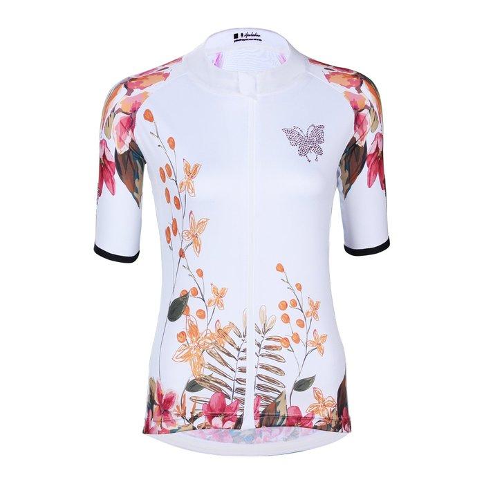 水鑽系列【ILPALADINO】競技型女士短袖車衣 :: 蝴蝶
