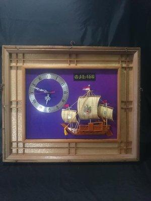 *阿柱的店* 日式 木框 復古 吊飾 壁鐘 時鐘 可參考 台南市