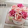 【愛麗絲生活家飾雜貨】zakka韓式手感幸福玫瑰花仿真花小花灑盆栽擺飾