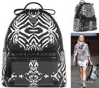 喬瑟芬【MCM 】現貨~2014春夏 限量版 Funky Zebra Mediun Backpack 斑馬紋 鉚釘 中型 後背包