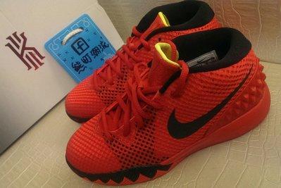 NIKE KYRIE 1 Kyrie Irving 騎士隊 紅色 鋸齒 籃球鞋 女 717219-606 Size:4y