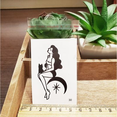 【萌古屋】百態人30單圖 - 男女防水紋身貼紙刺青貼紙 K43
