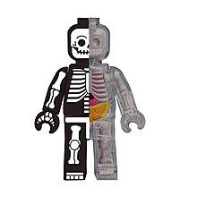 "全新現貨 4D Master Jason Freeny 4"" Anatomy Brick Man Skeleton 半解積木人骷髏 Mighty Jaxx"