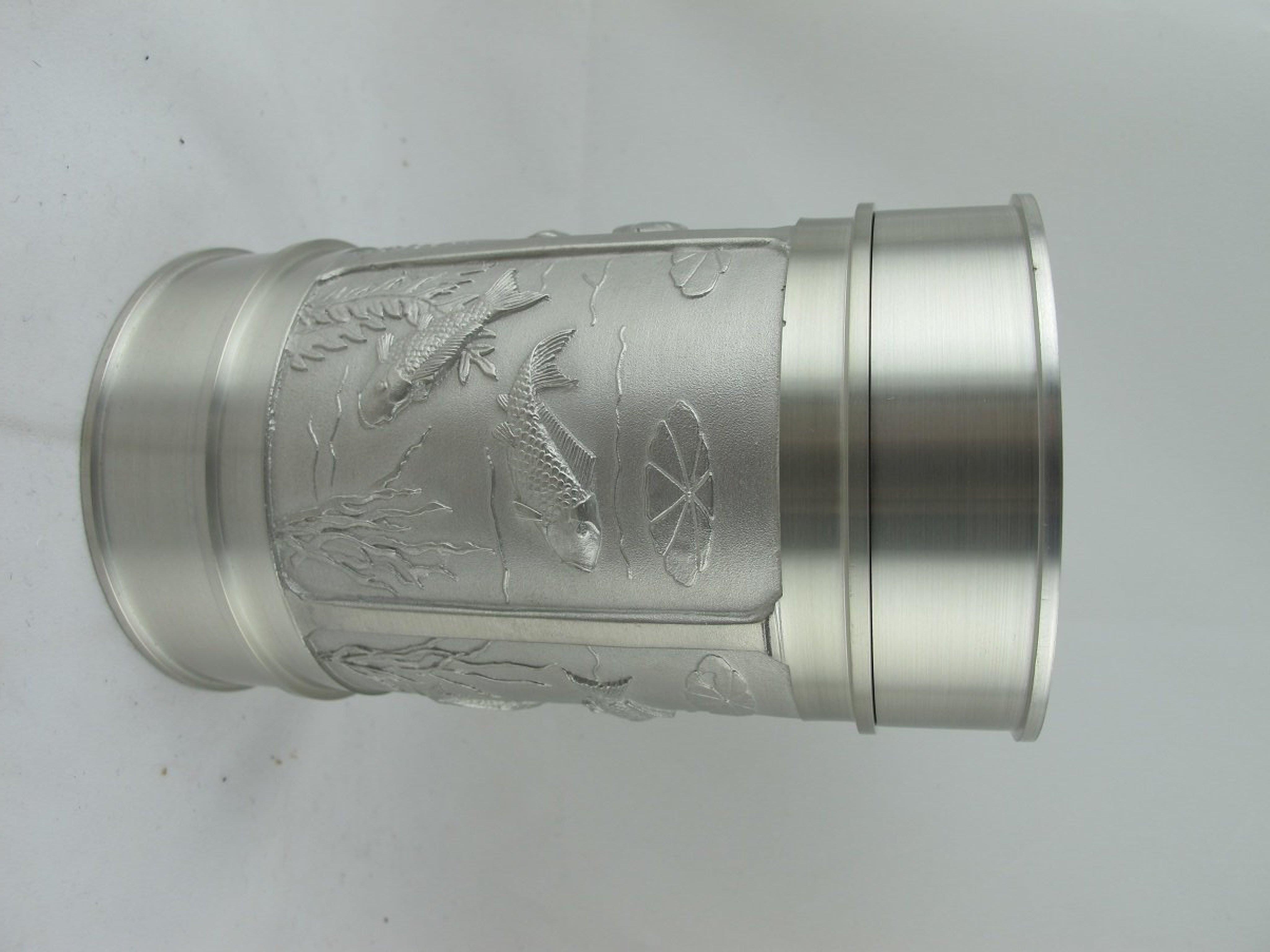 馬來西亞小錫罐 高12直徑6.5 六兩
