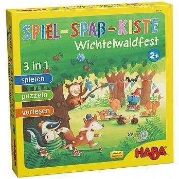 大安殿實體店面 免運 附中文說明書 森林派對 三合一 Spiel-Spaß-Kiste HABA正版益智桌上遊戲