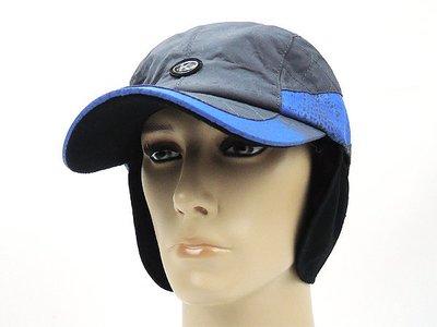 ☆二鹿帽飾☆   老K/ 防風防水男女護頸棒球帽 /輕柔保暖輕便型/灰藍色-台灣製