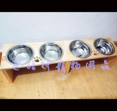 家裡毛小孩用這個餐桌 立馬給你多吃好幾碗~ 純手工製作 松木寵物碗架 貓碗架 寵物餐桌 不繡鋼碗 餐桌 貓碗 狗碗...