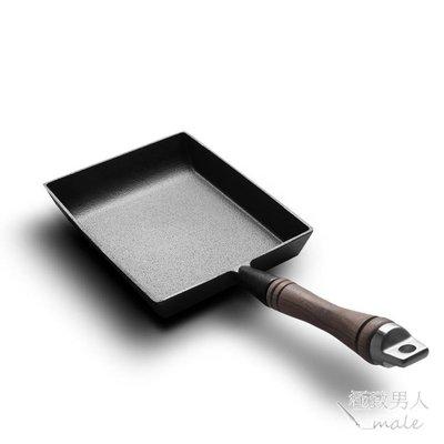 典匠無塗層玉子燒平底煎鍋方形厚鑄鐵SMY4840